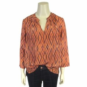 Collective Concepts Sz S Ikat Blouse Pullover Top